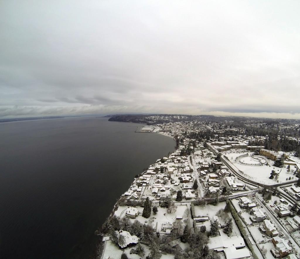 Des Moines Waterfront Under Snow